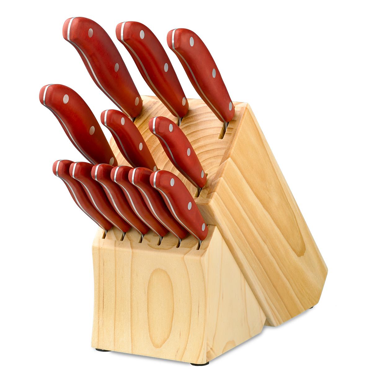 Magna Red 13 Piece Cutlery Block Set Hamptonforge Com