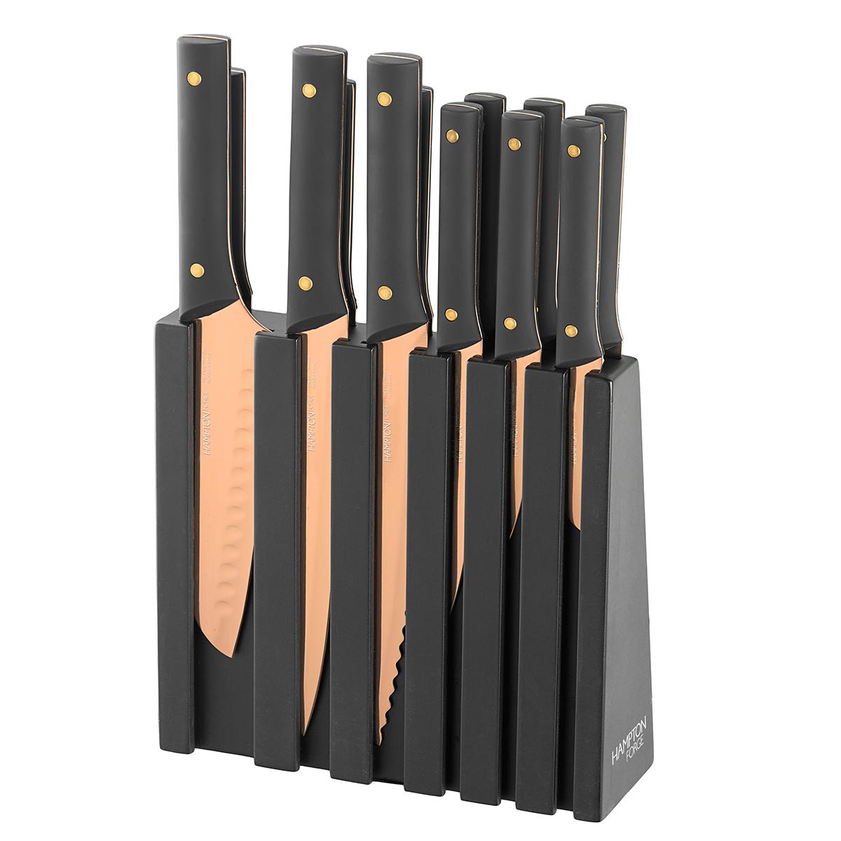 Knight 13 Piece Titanium Plated Cutlery Block Set